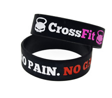 NO PAIN NO GAIN CrossFit Gym Fitness Motivation Silicone Wristband Bracelet