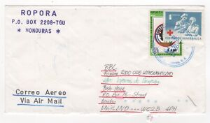 1991 HONDURAS Air Mail Cover to BBC LONDON GB Red Cross