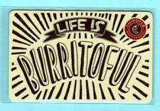CHIPOTLE Life is Burritoful 2014 Gift Card ( $0 )