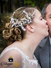 Bridal hair vine, head / hair piece crystals pearls Wedding hair jewellery UK