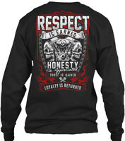 Motorcycle Riders For Men Biker - Respect Is Gildan Long Sleeve Tee T-Shirt