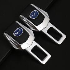 2x Universal Zinc Alloy Car Safety Seat Belt Plug Clip Interior for Mazda