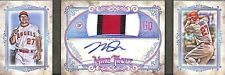 2018 Topps Gypsy Queen Patch Autograph Booklet #GQAP-MT Mike Trout No 3 of 10