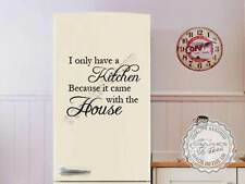 Kitchen Wall Quote, Kitchen Came With House, Funny Fridge Sticker Vinyl Decal