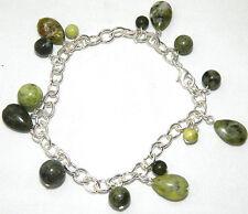 Charm Shamrock Bracelet Connemara Marble Irish Ireland J C Walsh Green JW1025