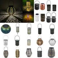 Retro Solar LED Lantern Outdoor Garden Hanging Lamp Patio Landscape Light Decor