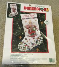 Dimensions COUNTRY PATCHWORK ANGEL STOCKING 8465 Counted Cross Stitch Kit Sealed