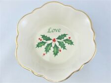 Lenox Holiday Small Candy Bowl Dish American by Design Love, Christmas