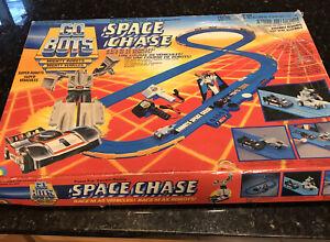 GoBots LJN Tonka SPACE CHASE Slot Car Set Race Track w/ Box