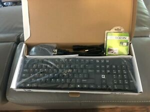 QR wired keyboard, mouse and usb wifi 802.11