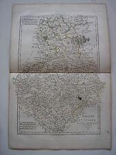 CARTE de BOHEME LUSACE par BONNE carte ancienne 1788 budissin pilsen prague   49