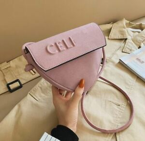 New Fashion Frosted Decorative Letters One Shoulder Crossbody Saddle Bag