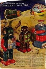 1967 ADVERT Toy Robots Lost In Space Flying Saucer Ship Machine Gun Robot VW Bus