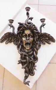 Medusa: Greek Mythology / wall mounted candle holder 61.5x50 cm / 24.21x19.68 in