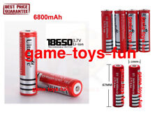 2x Ultro High Drain 20A Raise Head Top 3.7V Li-ion Battery 6800mAh Torch Doorbel
