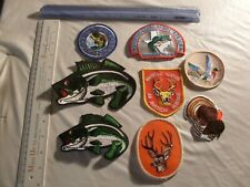 Hunting Fishing ducks, deer, hunting outdoors Patch collection Patches