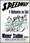 Speedway 1961 Motorcycle Racing Vintage Poster Print European Motocross Decor
