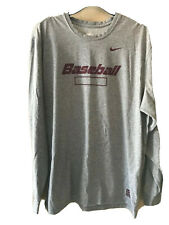 Men's Nike Fit Dry Training Xl pullover top shirt athletic baseball cotton poly