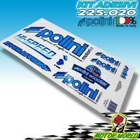 Adhésifs - Stickers Team POLINI Scooter Avec Contour Bleu - 225.020