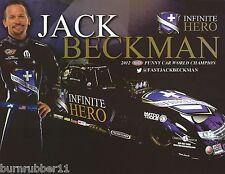 "2015 JACK BECKMAN ""INFINITE HERO"" NHRA FUNNY CAR HANDOUT /  POSTCARD"