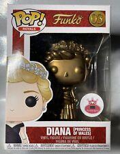 FUNKO POP! ROYALS #03 DIANA PRINCESS OF WALES BRITISH ROYAL FAMILY CUSTOM GOLD