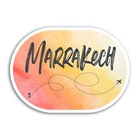 2 x 10cm Marrakech Vinyl Stickers - Morocco Travel Sticker Laptop Luggage #17982