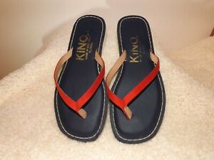 KINO~Key West SANDALS~ WOMEN'S SIZE 6M~ Navy Blue & Red EUC   #680