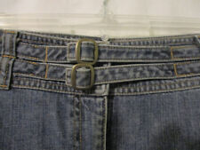 Jean Skirt Double Belted A Line 14 Denim 22 inches long Calvin Klein Jeans