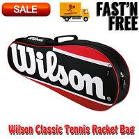 Wilson Classic Tennis Racket Bag, Equipment Outdoor Sports, Shoulder Strap, Case