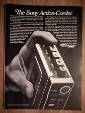 1973 Print Ad SONY TC-55 Action-Corder Portable Tape Recorder ~ Ask Anyone