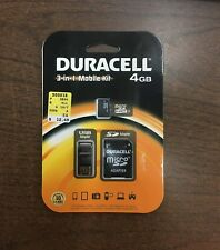 Duracell 3 in 1 Mobile Kit, 4 GB, SD adapter & USB card-reader/adapter, Micro SD