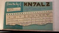 OLD VINTAGE QSL HAM RADIO CARD POSTCARD, SEATTLE WASHINGTON 1958