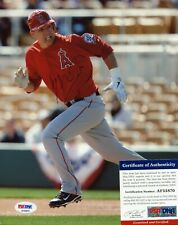 Mike Trout L.A. Angels of Anaheim PSA/DNA signed 8x10 authentic photo autograph