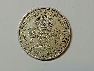 GREAT BRITAIN FLORIN 1937.  0.500  SILVER. KM 855
