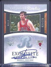2004-05 Upper Deck Exquisite Rookie Autograph Andres Nocioni #67 25/225