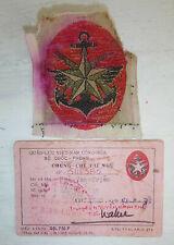 Arvn General Staff - Silk Patch and Id Card - Officer - 1973 - Vietnam War, 4214