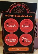 1973 Oliver Gigi Gone with the Wind Civic Light Opera Theater Window Card