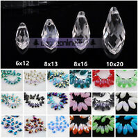 6mm 8mm 10mm Teardrop Faceted Drop Crystal Glass Loose Beads Pendants Wholesale