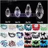 6mm 8mm 10mm Teardrop Faceted Drop Crystal Glass Loose Beads Pendants Wholesale
