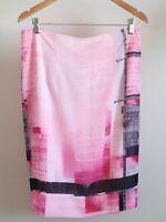 Liz Jordan - Pretty Women's Pink Lined Knee Length Skirt Size L