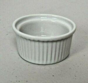 12X Olympia Whiteware Ramekins 70mm Chip Resistant Porcelain - NEW