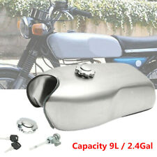 9L/2.4 Gallon Motorcycle Cafe Racer Gas Fuel Tank fit for BMW Honda Yamaha Steel