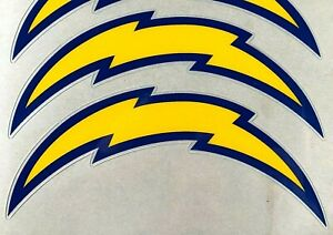 SAN DIEGO CHARGERS THROWBACK MINI SIDE HELMET DECAL SET 61-65, 67 -73, + MORE