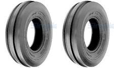 TWO (2) 5.00-15 5.00X15 500-15 Tri-Rib 3 Rib 4PLY Rated Tires & Tubes Heavy Duty