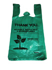 """500-Pack Thank You Plastic Bags, Grocery Bags, 1/6 Size 12""""x22"""" Biodegradable"""