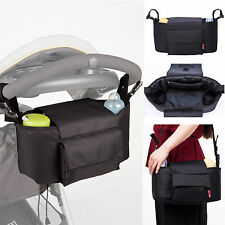 Allis 2in1 Baby Changing Bag Pram Storage Buggy Organiser Black Large Size