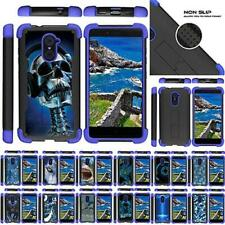 For ZTE Imperial Max / Max Duo / Grand X Max 2 Case Defender Stand Blue Bumper