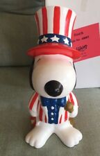 Vintage Peanuts Snoopy Patriotic Bank Willitts in Box GREAT Shape! RARE
