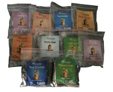 """Incense Cones-250 All Natural """"10 of the Best"""" Nag Champa Sandalwood White Sage"""