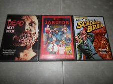 Dead Next Door / The Janitor / Man with Screaming Brain Splatter Gore DVD LOT